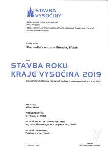 Stavba roku Kraje Vysočina 2019
